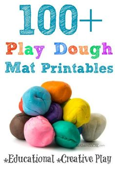 Play dough mats are great for so many things and foster terrific creative play and learning!