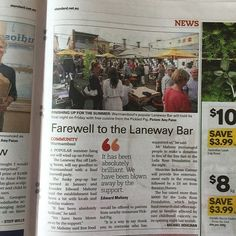 Thanks to @wboolstandard for support this summer! They do a great job promoting our region. #warrnambool by warrnamboollanewaybar