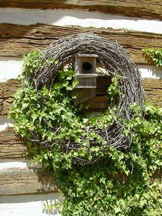Hidden birdhouse~ wrens love this type.