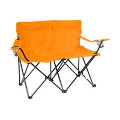 Trademark Innovations Loveseat Style Double Camp Chair Seat Color: Orange