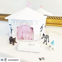 Die kreative @evartsalon hat sich von meinen Advents-Zirkus inspirieren lassen und auch einen gebastelt. So toll  The very creative @evartsalon got inspired by my advent-circus and made one as well. Loving it! #Adventskalender #zirkus #ziehdochmalweiter #diy