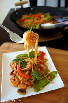 Kung Pao Shrimp Lo Mein, one of my favorites. #chinese #kungpao #shrimp #pescatarian #asian #noodles #dinner #recipe