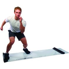Slide Board -   Slide Adjusts 4' to 8'. Develop lateral strength, power, and endurance. Improve balance agility speed and flexibility. An exceptionally effective low-impact aerobic workout. Gain cardiovascular/respiratory control. Fully adjustable from 4' to 8 foot slide. Comes with two booties. One quarter inch thick. 1 year warranty. 300 lb weight capacity.
