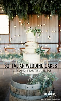 30 Tasty Italian Wedding Cakes ❤ See more: http://www.weddingforward.com/italian-wedding-cakes/ #weddings #cakes
