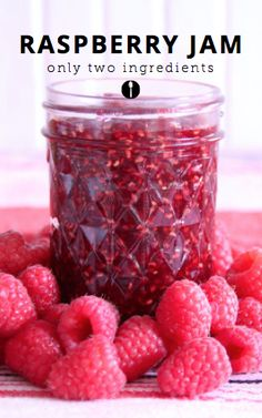 2-ingredient raspberry jam recipe