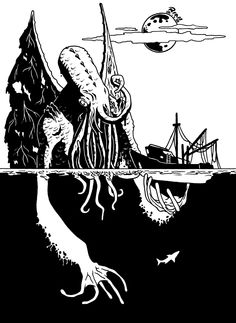 Cthulhu Sketch by rianmiller.deviantart.com on @DeviantArt