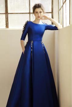 9 Latest and Fashionable Blue Frocks for Women These are some new designs of blue frock. Most of them are party wears. Everybody prefers to wear the best attire for parties. Here are the best Blue Frocks for Girls. Indian Gowns, Indian Outfits, Western Outfits, Blue Frock, Frock For Women, Evening Dresses, Formal Dresses, Summer Gowns, Elegant Prom Dresses