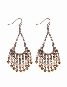 Beaded Chandelier Earrings from THELIMITED.com