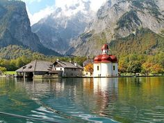 St. Bartholomae church on the Koenigsee lake near Berchtesgaden