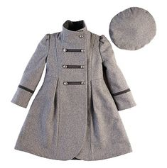 girls military wool coat