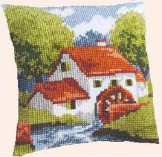 Etamin Pano 5 Etamin Işleme Pano örnekleri Pano Modelleri Etamin Pictures Cross Stitch House, Cross Stitch Pillow, Cross Stitch Embroidery, Hand Embroidery, Cross Stitch Patterns, Beading Patterns, Embroidery Patterns, Graph Crochet, Cross Stitch Animals