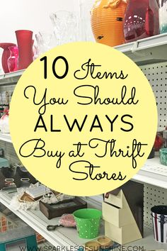 Save a buck or two and check out this list of 10 items you should always buy at thrift stores. Don't shop retail stores all the time. Instead, save a buck or two and check out this list of 10 items you should always buy at thrift stores. Thrift Shop Finds, Thrift Store Shopping, Thrift Store Crafts, Shopping Hacks, Goodwill Finds, Thrift Store Decorating, Local Thrift Stores, Online Thrift Store Furniture, Goodwill Furniture
