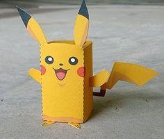 pokemon valentines box | Paper Craft Pikachu Box Figure (Finger Puppet Pokemon)!