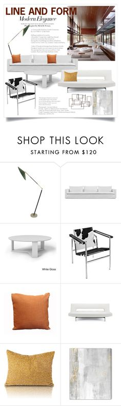 """Line and Form 2135"" by boxthoughts ❤ liked on Polyvore featuring interior, interiors, interior design, home, home decor, interior decorating, Harbour Outdoor, Manhattan Comfort, Modway and Dot & Bo"