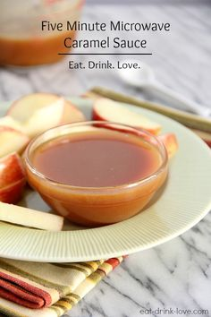 Microwave Caramel Sauce...yesss! from @Stephanie {Eat. Drink. Love.}