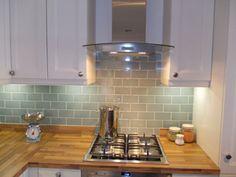 New kitchen tiles duck egg bathroom Ideas Metro Tiles Kitchen, Kitchen Wall Tiles, Kitchen Flooring, Kitchen Backsplash, Painting Kitchen Tiles, Paint Tiles, Brick Bathroom, Cement Tiles, Backsplash Ideas