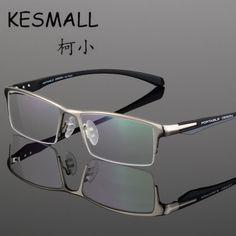 9e05eef18fd Online Shop KESMALL 2017 Glasses Frame Men Hlaf-Frame Business Metal  Fashion Eyeglasses Frame Anti Bule-Ray CY118