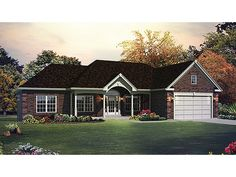 Home Plan HOMEPW77837 is a gorgeous 1562 sq ft, 1 story, 3 bedroom, 2 bathroom plan influenced by  Ranch  style architecture.
