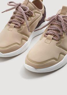 6bdd10079c8908 Appliqué lightweight sole sneakers - Women