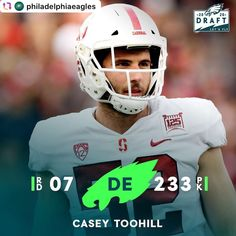 #Repost @philadelphiaeagles . With the 233rd pick in the 2020 #NFLDraft, the @eagles #EAGLES 🦅🏈🏆💚 select DE #CaseyToohill. #FlyEaglesFly