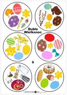 Duble - Wielkanoc - Printoteka.pl Fun Games For Kids, Diy For Kids, Kids Workshop, Memory Games, Play To Learn, Board Games, Free Printables, Alphabet, Kindergarten