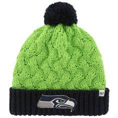 Women's Seattle Seahawks '47 Brand Neon Green Matterhorn Cuffed Knit Beanie