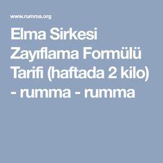Elma Sirkesi Zayıflama Formülü Tarifi (haftada 2 kilo) - rumma - rumma