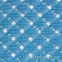 Crochet stitch pattern written in Russian with diagram ❥Teresa Restegui http://www.pinterest.com/teretegui/❥