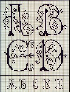 Cross Stitch: Letters from the French album XIX century Discussion on LiveInternet - Russian Service Online Diaries Monogram Cross Stitch, Just Cross Stitch, Cross Stitch Alphabet, Cross Stitching, Cross Stitch Embroidery, Cross Stitch Designs, Stitch Patterns, Plastic Canvas Letters, Embroidery Alphabet