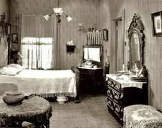 Guide To Discount Bedroom Furniture. Bedroom furnishings encompasses providing products such as chest of drawers, daybeds, fashion jewelry chests, headboards, highboys and night stands. 1920s Bedroom, Bedroom Vintage, Bedroom Decor, Bedroom Ideas, Shabby Bedroom, Victorian Bedroom, Bedroom Pictures, Mirror Bedroom, Bedroom Images