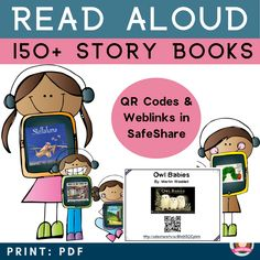 Scan or click one of the Interactive Read Aloud Cards and enjoy 150 Read Aloud Picture Books. This is perfect reluctant readers and a great reading intervention resource. All links are ad free and created via SafeTube or Safe Share. There are a range of stories to read aloud, all of which are perfect for home libraries and classroom libraries. They are also a great brain breaks for kids in the classroom. Kindergarten Reading Activities, Learning Activities, Kindergarten Teachers, Reading Response, Reading Intervention, Reading Stories, Reading Resources, Creative Teaching, Teaching Tips