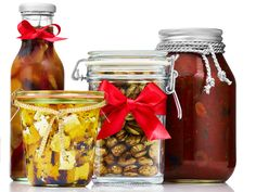 50 Gift Jars - FoodNetwork.com (spicy roasted peppers, pickled winter vegetables, ancho barbecue sauce, roast chicken rub)