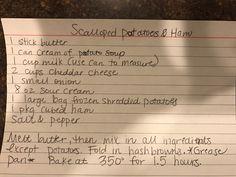 Scalloped Potatoes & Ham by Heater Janzig