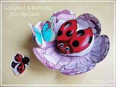 Ladybird pop up card -Click here to learn how to make the card and get template!
