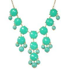 Bubble Bib Necklace in Aqua