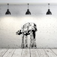 Star Wars AT-AT Walker Wall Decal Vinyl Sticker Decals Star Wars Wall Decal Children Kids Nursery Bedroom Office Decor Window Dorm ZX203 by IncredibleDecals on Etsy https://www.etsy.com/listing/253042427/star-wars-at-at-walker-wall-decal-vinyl