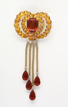 Citrine & Diamond Br beauty bling jewelry fashion