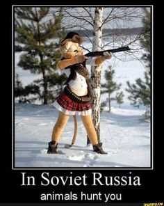In Soviet Russia, animals hunt you Meanwhile In Russia, Russian Memes, Military Memes, Furry Comic, Furry Drawing, Anthro Furry, History Memes, Hilarious Memes, Funny Memes
