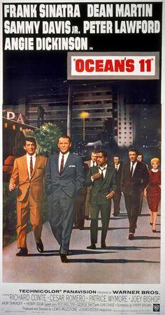 CAST: Frank Sinatra, Dean Martin, Sammy Davis Jr., Angie Dickinson, Peter Lawford, Richard Conte, Cesar Romero, Joey Bishop, Akim Tamiroff, Henry Silva, Buddy Lester, Norman Fell, Red Skelton, Shirley