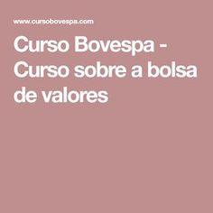 Curso Bovespa - Curso sobre a bolsa de valores