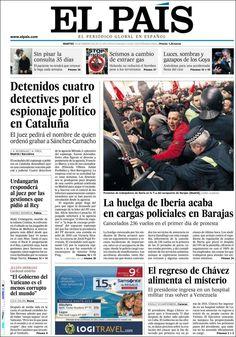 Los Titulares y Portadas de Noticias Destacadas Españolas del 19 de Febrero de 2013 del Diario El País ¿Que le parecio esta Portada de este Diario Español?