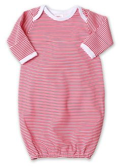 766176238 Zutano Candy Stripe Gown, Red, 3 Months, Zutano Candy Stripe Gown - RedOur  Itzy Bitzy gown is the ultimate garment for flexibility and comfort.