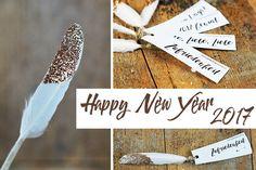 Glücksbringer basteln ist eine Tradition zu Silvester - aus Federn und ein bisschen Glitzer entstehen wunderschöne, individuelle Glücksbringer!