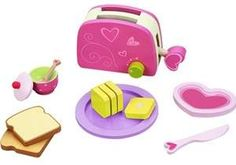 Classic World Toys Toaster Set - Purple (Toaster Set) Cool Toys For Boys, Best Kids Toys, Cool Girl Toys, Toddler Christmas, Christmas Toys, Best Gifts For Tweens, Play Food Set, Tween Girl Gifts, Baking Set