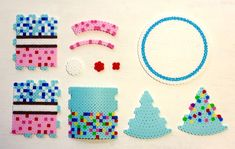 3D Perler Bead Food, Dessert, Cake Pixel Art Patterns by Kyle McCoy