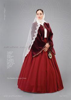 """Samoseli Pirveli"" - Georgian National Costume. City Dwellers Georgian Dress - Collection 2011"