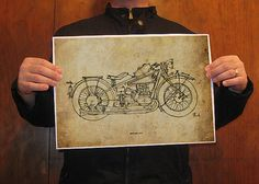 Print Art BMW R471927Original Handmade Drawing Print by drawspots