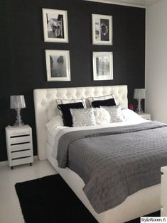25 Black and White Bedrooms Interior Design Trends for 2019 - Home Sweet Home - Bedroom Ideas Bedroom Makeover, Home Bedroom, Bedroom Interior, Home Decor, Apartment Decor, Room Decor Bedroom, Simple Bedroom, Girl Bedroom Decor, Interior Design Bedroom