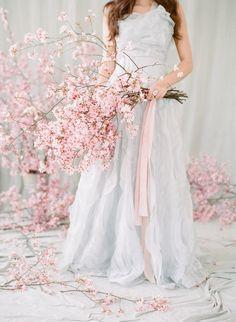 15 Best Cherry Blossom Bouquet Images Bouquet Floral Wedding