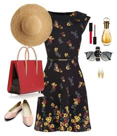 A fashion look from November 2016 featuring long dresses, ballet flat shoes and man bag. Browse and shop related looks. Christian Dior, Christian Louboutin, Summer Fresh, Kenneth Jay Lane, Flora, Ray Bans, Gucci, Stuff To Buy, Polyvore Fashion